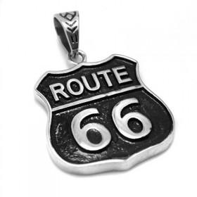 Prívesok z chirurgickej ocele Route 66