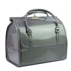 Luxusné kufrík pre kozmetiku MODEL12 Šedý
