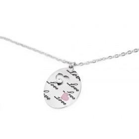 Oceľový náhrdelník ovál Love Heart