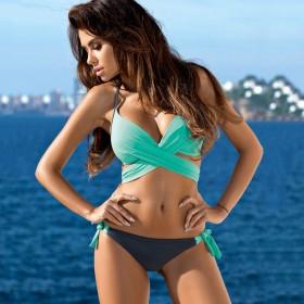 Dvojdielne Push up plavky Ariel Tyrkys