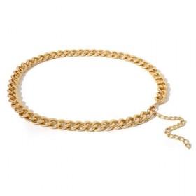 Ozdobný Róbusný dámsky kovový opasok Zlatý