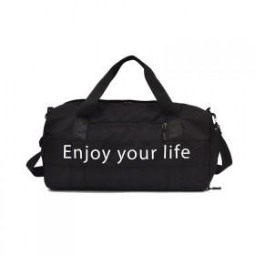Cestovná taška Travel Enjoy LIFE Čierna