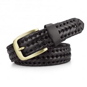 Pánsky pletený kožený opasok Tangle man- čierny
