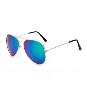 Slnečné okuliare modro-zelené zrkadlové zlaté Polarizačné