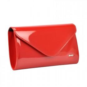 Rovicky elegantná lakovaná kabelka EXTRA Červená