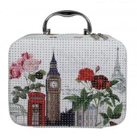 BMD kozmetický kufrík Kocka s kryštálmi LONDON