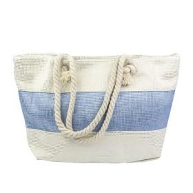 Dizajnová Plážová taška Modrý pruh