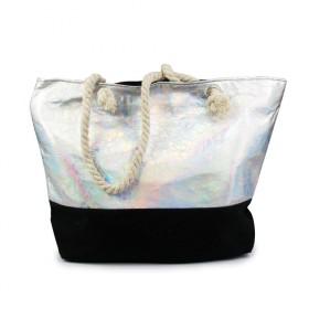 Dizajnová Plážová taška Metalická Holo