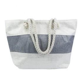 Dizajnová Plážová taška Šedý pruh