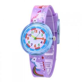 Dievčenské silikónové hodinky Jednorožec