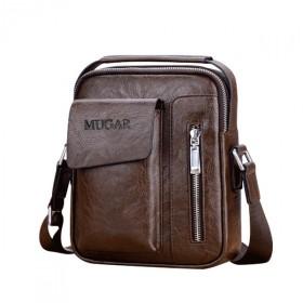 MUGAR pánska taška cez rameno hnedá