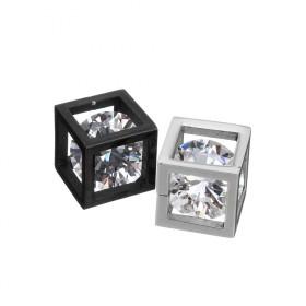 Prívesok z chirurgickej ocele - Zircon Cube