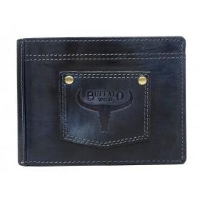 Buffalo Wild pánska kožená peňaženka Navy