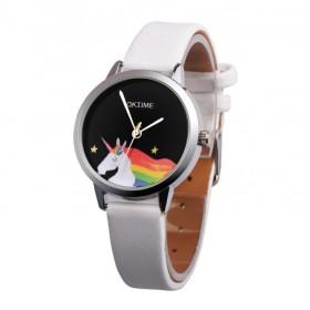 Oktime Dievčenské hodinky UNICORN jednorožec Biele