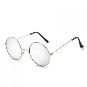 Okrúhle slnečné okuliare Round Strieborné zrkadlovky