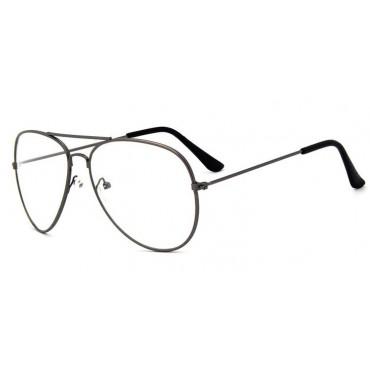 Nedioptrické okuliare pilotky-Aviator Gunmetal