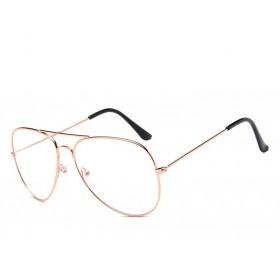 Nedioptrické okuliare pilotky-Aviator Zlaté