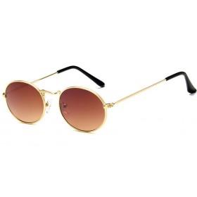 Oválne slnečné okuliare Ellipse Zlato - hnedé