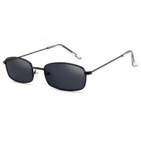 Obdĺžnikové slnečné okuliare Rectangle Černé- Dymové