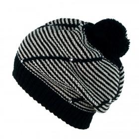 ArtOfPolo Dámska baretka s kryštálmi Čierna
