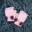 Bezprstové rukavice s klapkou Liverpool Ružové