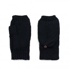 Bezprstové rukavice s chlopňou Helsinki Čierne