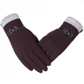 Dámske elegantné rukavice Hnedé