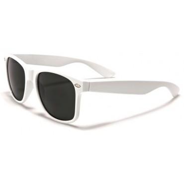 Slnečné okuliare styl wayfarer bílé