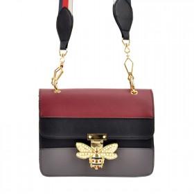 Bessie Dámska crossbody kabelka Včielka Čierna