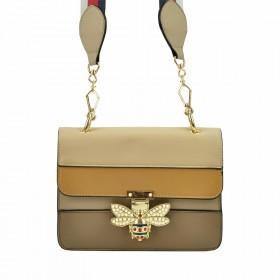 Bessie Dámska crossbody kabelka Včielka Béžová