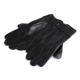 Pánske kožené rukavice Čierne