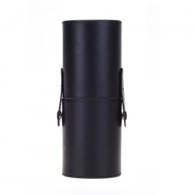 Koženková tuba na štetce pre Make Up Čierna