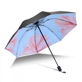 Dámsky skladací dáždnik Modrý kvet