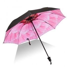 Dámsky skladací dáždnik Ružový kvet