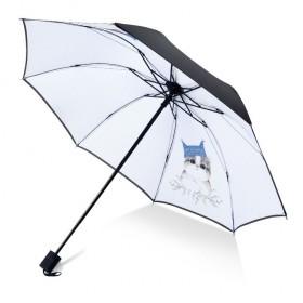 Dámsky skladací dáždnik Biely mačiatko