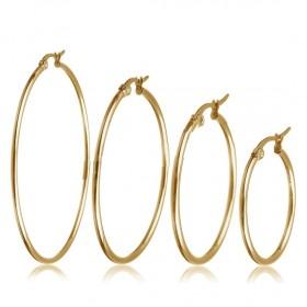 Oceľové náušnice kruhy 20-50 mm Just me Zlaté
