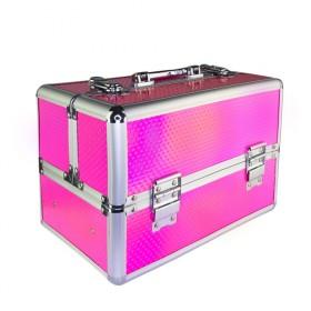 Kozmetický kufrík pre laky aj LED lampu Ružový