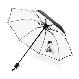 Dámsky skladací dáždnik Biely psík