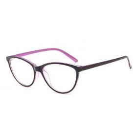 Antireflexné okuliare bez dioptrii Cat Girl Ružové