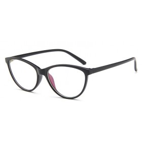 Antireflexné okuliare bez dioptrii Cat Girl Čierne