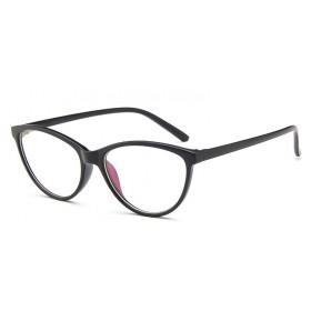 Okuliare blokujúce modré svetlo bez dioptrii Cat Girl Čierne