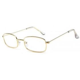 Nedioptrické okuliare Rectangle transparentné - Zlaté