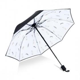Dámsky skladací dáždnik Lístok s mačičkou