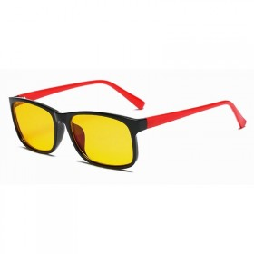 Okuliare s filtrom modrého svetla bez dioptrii KWE12- Červené