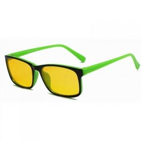 Okuliare s filtrom modrého svetla bez dioptrii KWE14- Zelené
