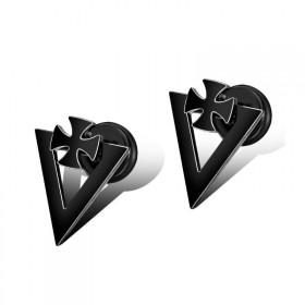 Punkové náušnice z chirurgickej ocele Iron Cross