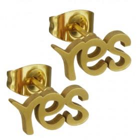 Puzetové náušnice z chirurgickej ocele Yes