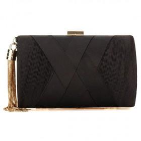 Dámska listová kabelka so štrasom Blanca Čierna