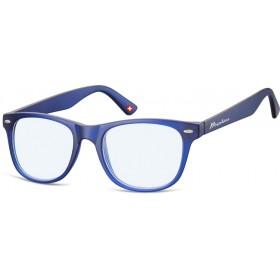 Antireflexné okuliare na počítač bez dioptrii MX67 Modré