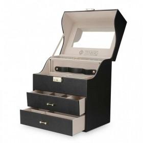Stenberg elegantný kufrík na šperky Daemon Čierny